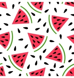 Cute seamless watermelon pattern vector