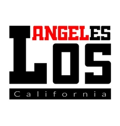 T shirt typography los angeles ca vector