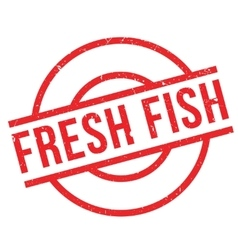 Fresh fish rubber stamp vector