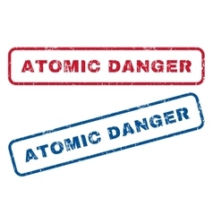 Atomic danger rubber stamps vector