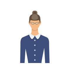female teacher avatar vector image