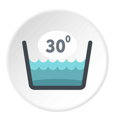 Delicate gentle thirty degrees icon circle vector