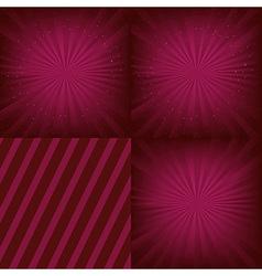 Luxury Background Set vector image