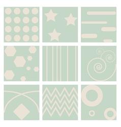 nine retro seamless pattern vector image