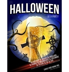 Halloween party flyer  eps 10 vector