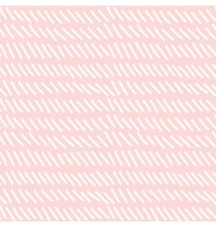 Hand drawn seamless pink dashed line texture vector