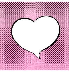 Speech Bubble Heart Shaped vector image