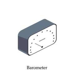 Barometer for measuring atmospheric pressure vector