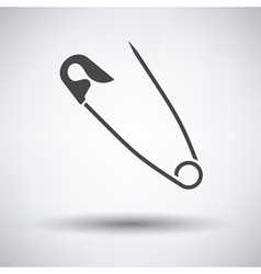 Tailor safety pin icon vector