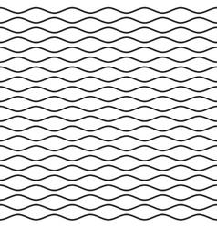 Black wavy line seamless pattern vector