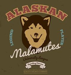 Alaskan malamute club tee graphic vector