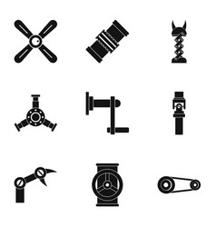 auto parts icon set simple style vector image vector image