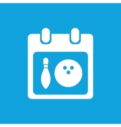 Bowling schedule icon simple vector