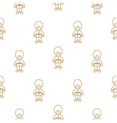 British royal guardsman seamless pattern vector