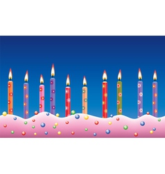 candles on cake vector image