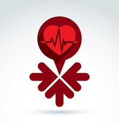 charity and donation symbol - of a red heart vector image