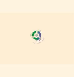 creative geometric modern logo fidget spinners vector image vector image