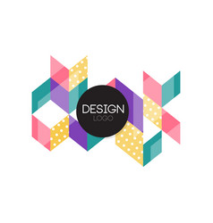design logo colorful abctract geometric element vector image vector image