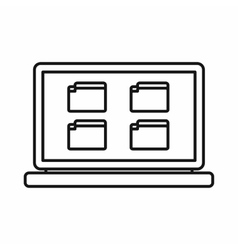 Desktop icon outline style vector image vector image