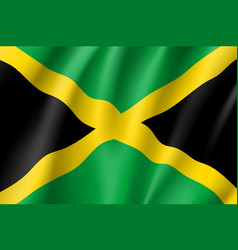 flag jamaica realistic icon vector image vector image