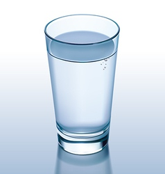 Glass water vector