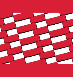 grunge poland flag or banner vector image vector image