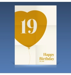 Happy birthday poster vector image vector image