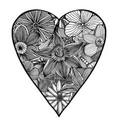 Heart-shaped pattern vector