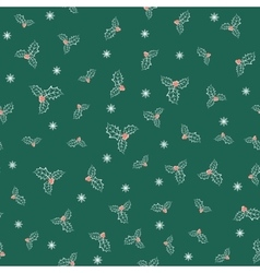 holly plant pattern vector image vector image