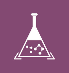 Icon pheromones in chemical flask vector