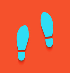 Imprint soles shoes sign whitish icon on vector
