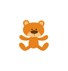 lovely brown teddy bear toy symbol icon vector image