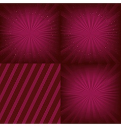Luxury background set vector