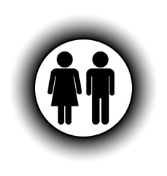 Male and female button vector