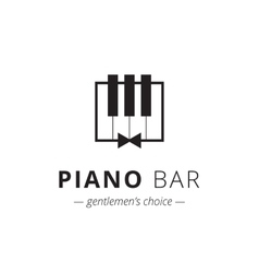 Minimalistic piano logo music sign vector