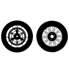 Motorbike wheels vector