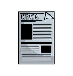 newspaper notices isolated icon vector image vector image