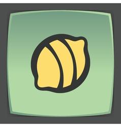 Outline lemon fruit icon modern infographic logo vector