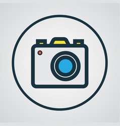 Photo apparatus colorful outline symbol premium vector