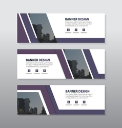 Purple abstract triangle corporate business banner vector image vector image