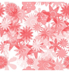 seamless red water colours simple floral pattern vector image vector image