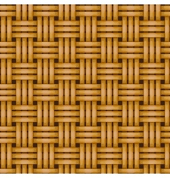 seamless woven wicker rail fence background vector image