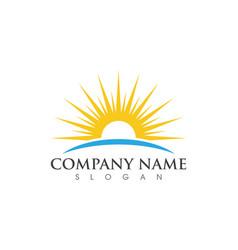Sun logo template vector