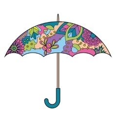 Umbrella colorful vector image