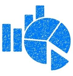 Statistics grainy texture icon vector