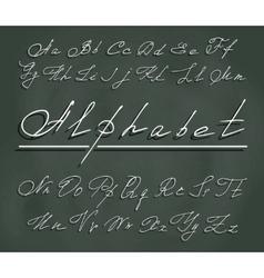 Handwriting font with elegant swirls vector
