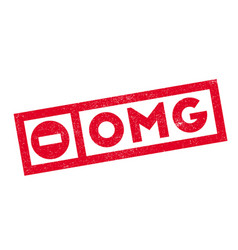 Omg rubber stamp vector