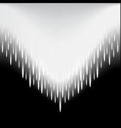 Meteor beam moves as an arrow abstract vector