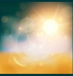 Golden light background vector