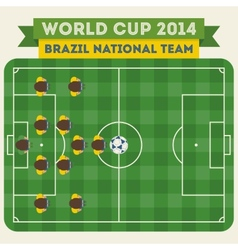 Brazil national football team 2014 vector image